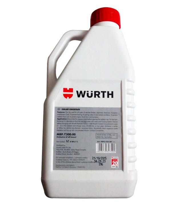WUERTH RADIATOR COOLANT ANTI FREEZE RED 1LTR