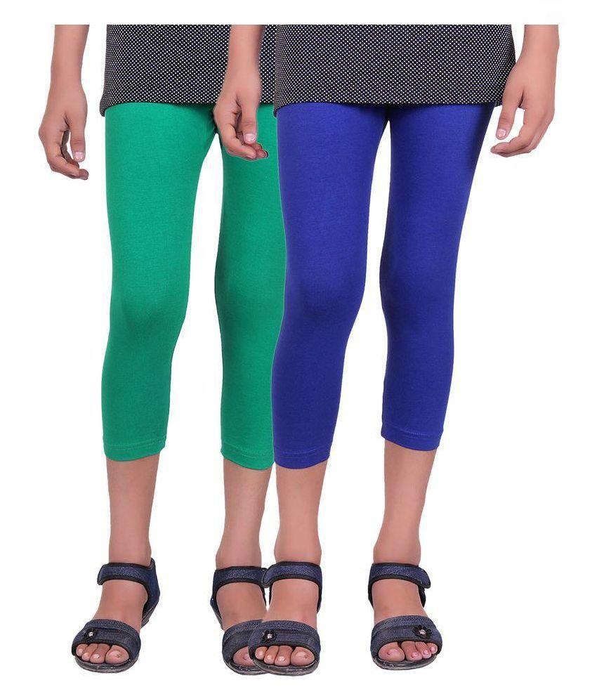 Alisha Cotton Multicolored Capri - Pack of 2