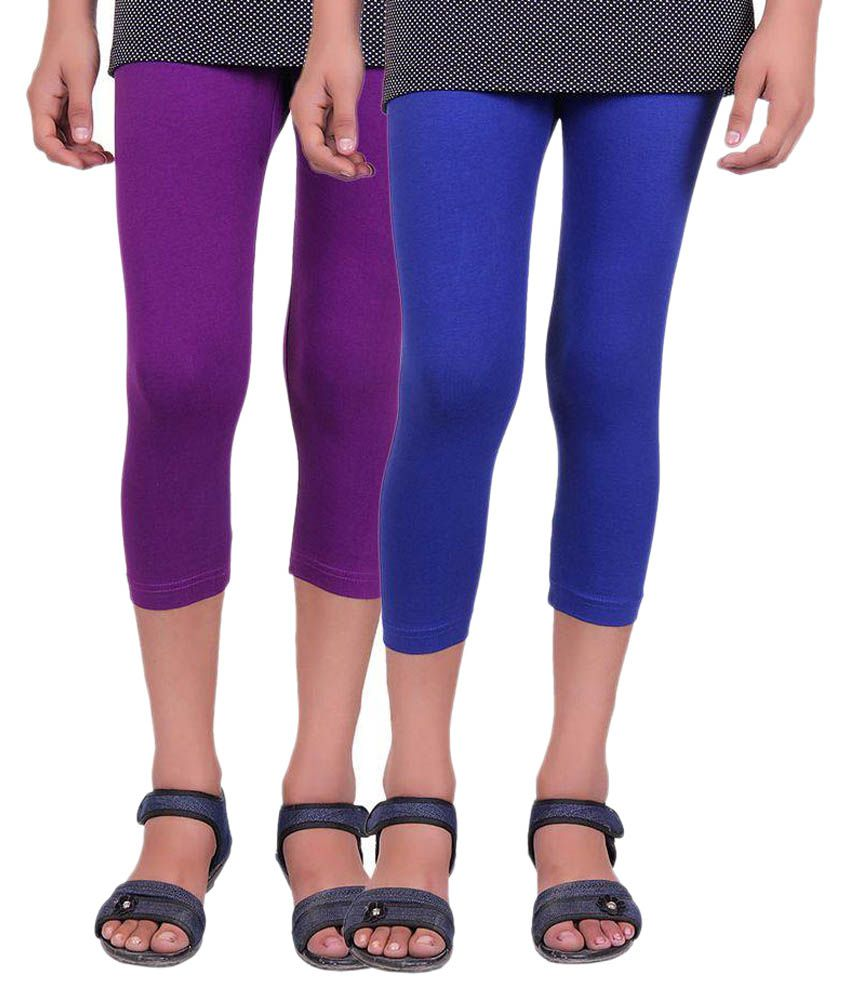 Alisha Multicolour Cotton Capris – Pack of 2