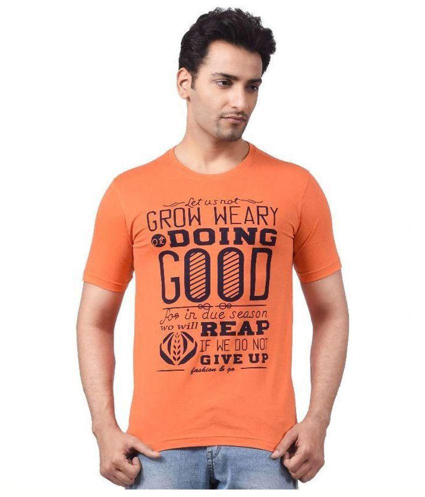 Regnum Orange Round T Shirt