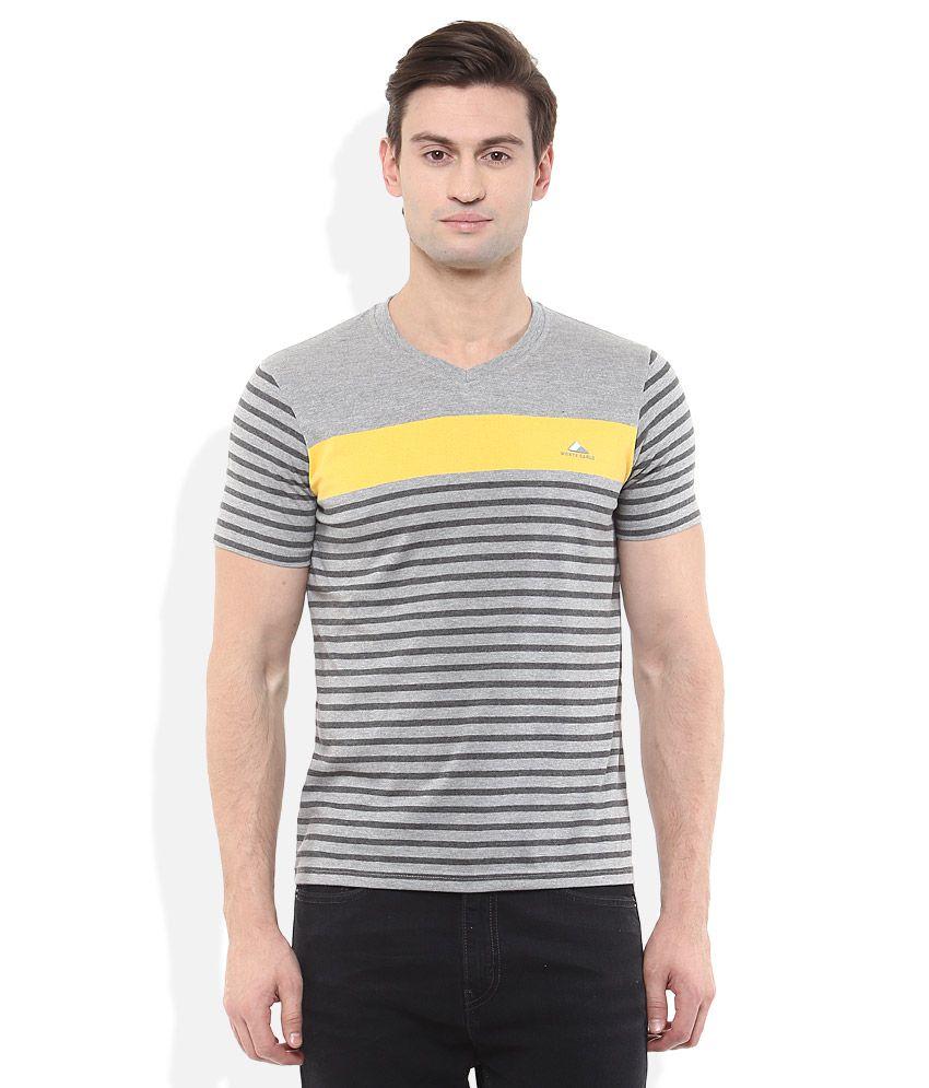 Monte Carlo Grey Striped T-Shirt