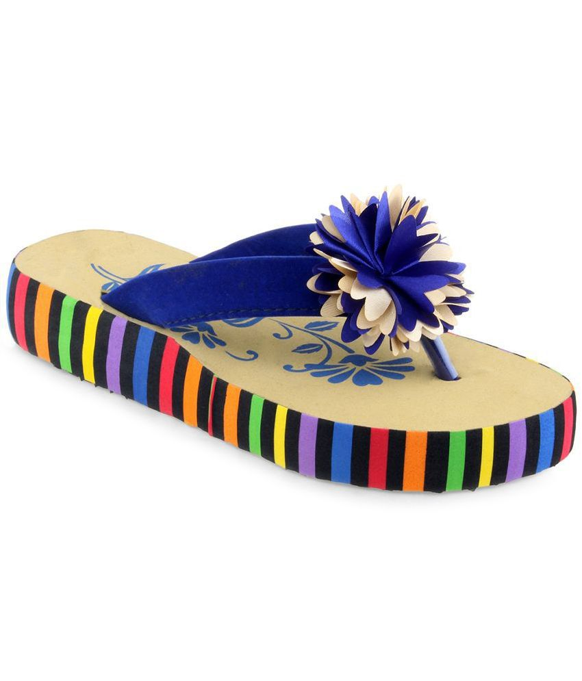 Shoe Lab Blue Flip Flops