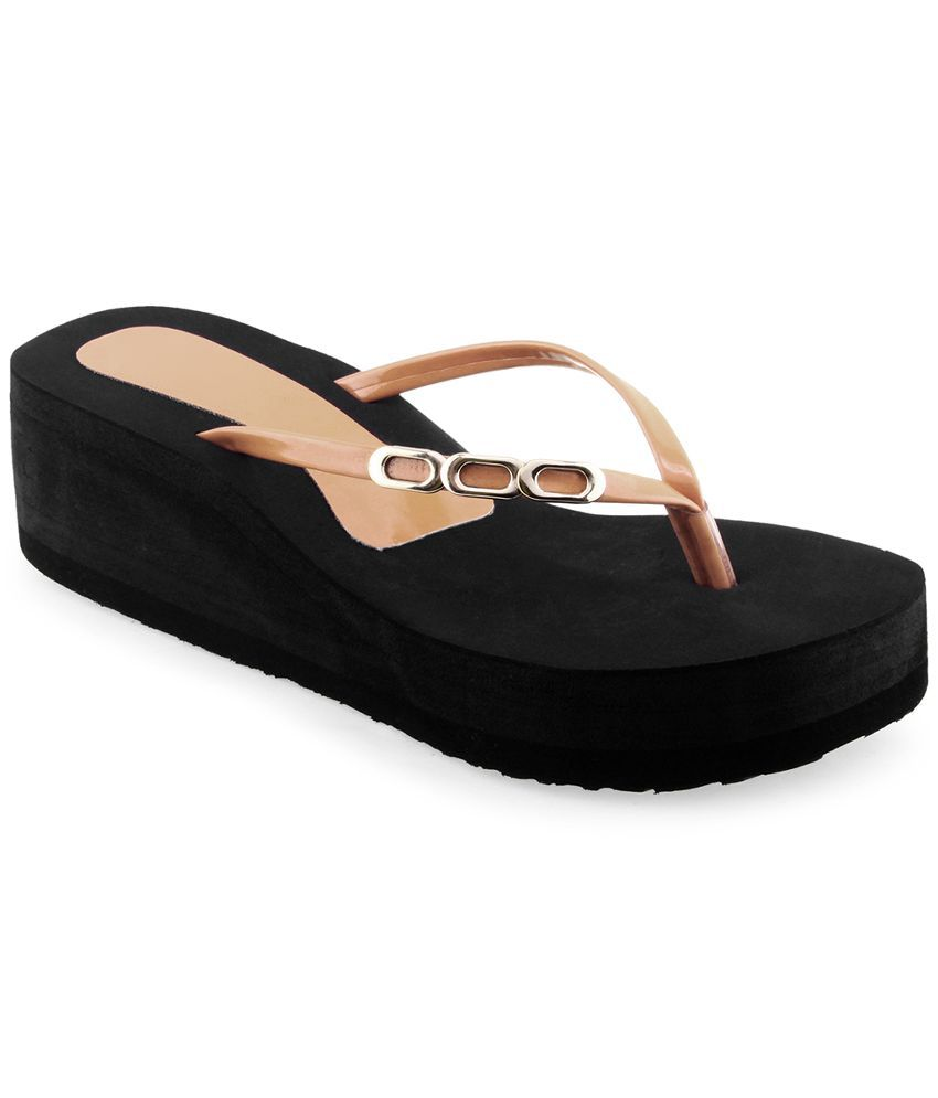 Shoe Lab Brown Flip Flops