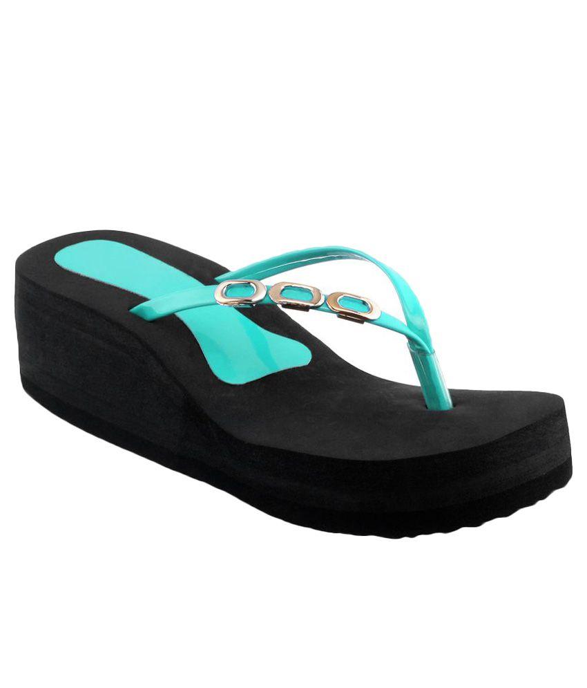 Shoe Lab Turquoise Flip Flops