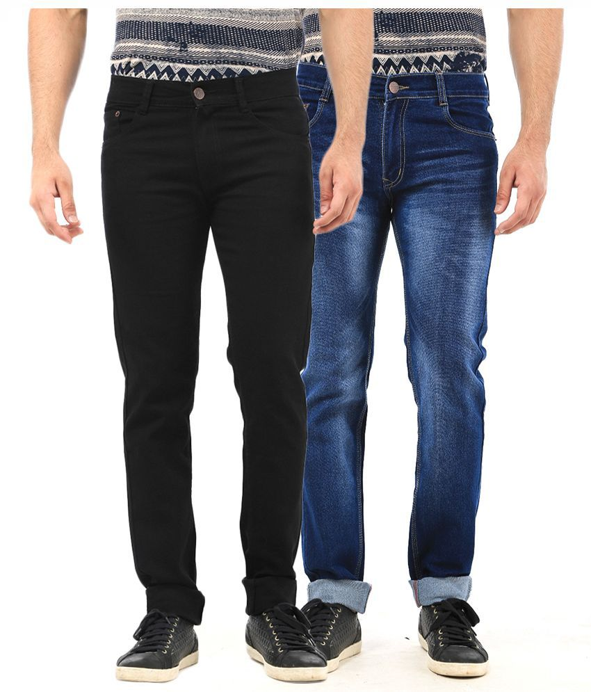 Ave Multi Regular Fit Faded Jeans Pack of 2