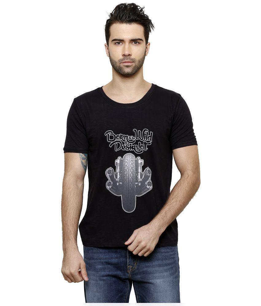 Desinvolt Black Round T Shirt