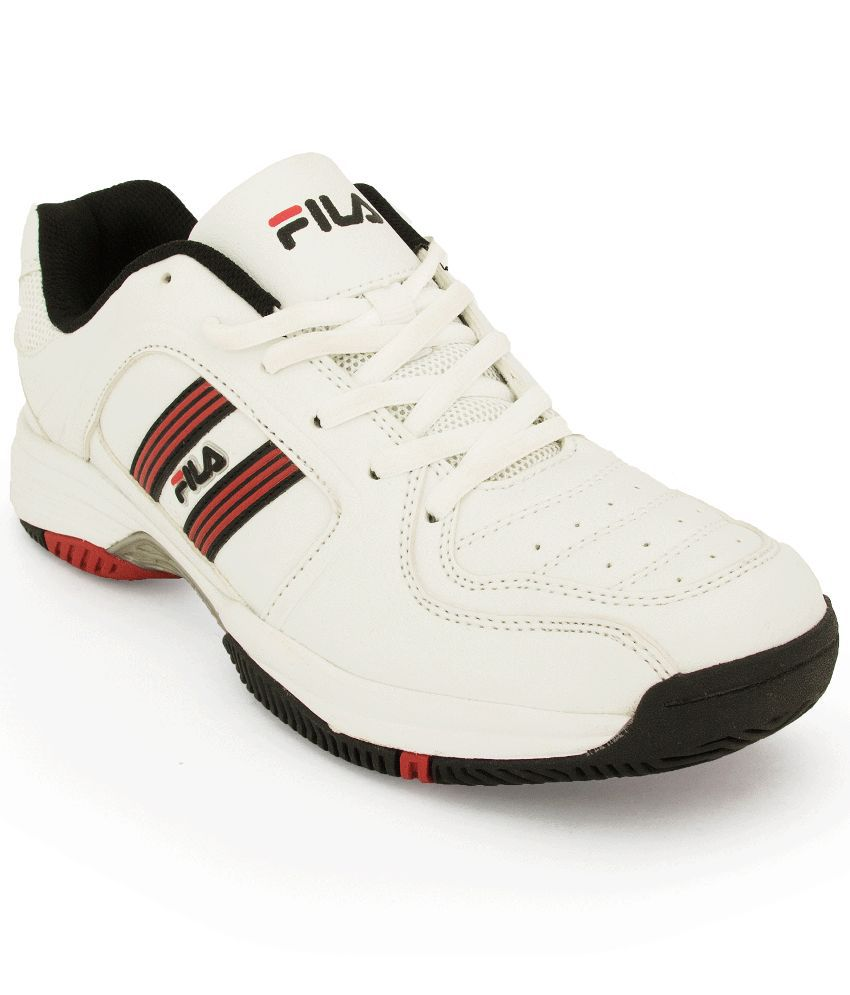 3fa8e4944814 Fila White Badminton Shoes - Buy Fila White Badminton Shoes Online at Best  Prices in India on Snapdeal
