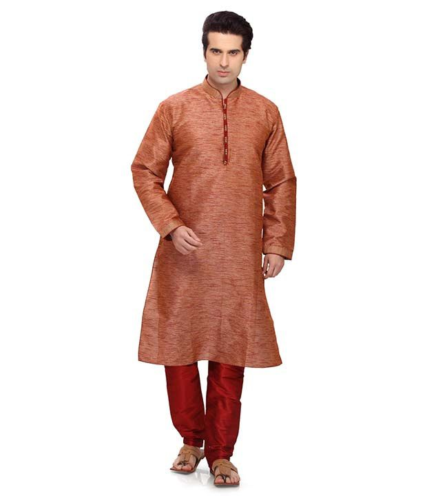 RG Designers Orange Kurta Pyjama Sets
