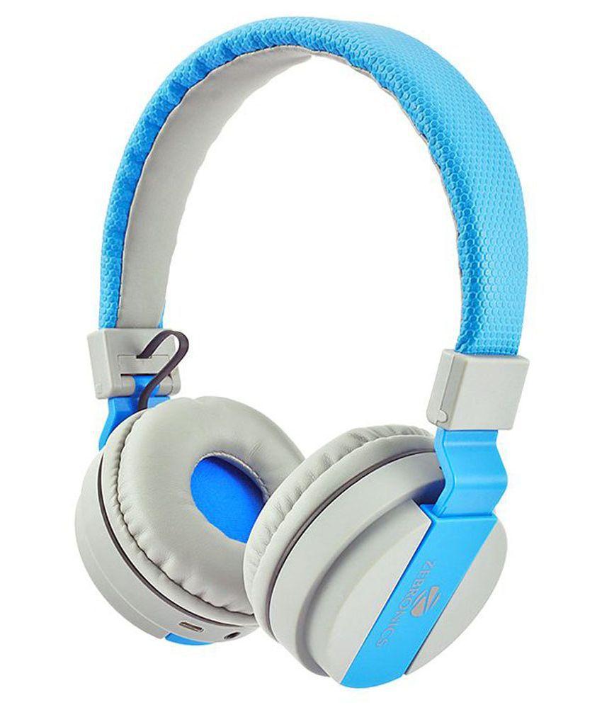 beaecf809eb Zebronics Airone Bluetooth headphone Bluetooth Wireless Yes Headphone Blue  - Buy Zebronics Airone Bluetooth headphone Bluetooth Wireless Yes Headphone  Blue ...