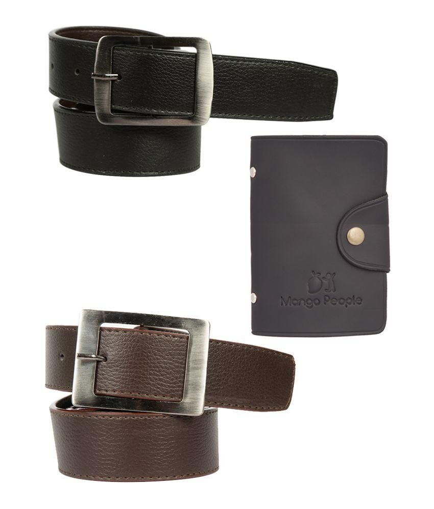 Mango People Multicolour 2 Belt with Card Holder