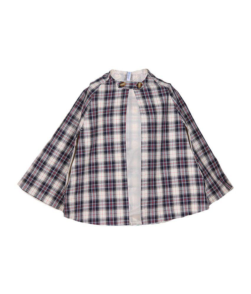 Miss Alibi Cotton Multicolour Checkered Girls's Jacket