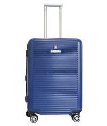 Swiss Military Medium (59 cm) 4 Wheel Hard Blue HTL09 - Primus Trolly Bag Luggage Trolley