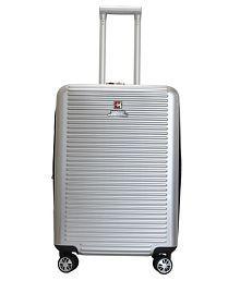 Swiss Military Small (Below 60 CM) 4 Wheel Hard Silver HTL13 - COMET 20 INCH TROLLEY BAG Luggage Trolley