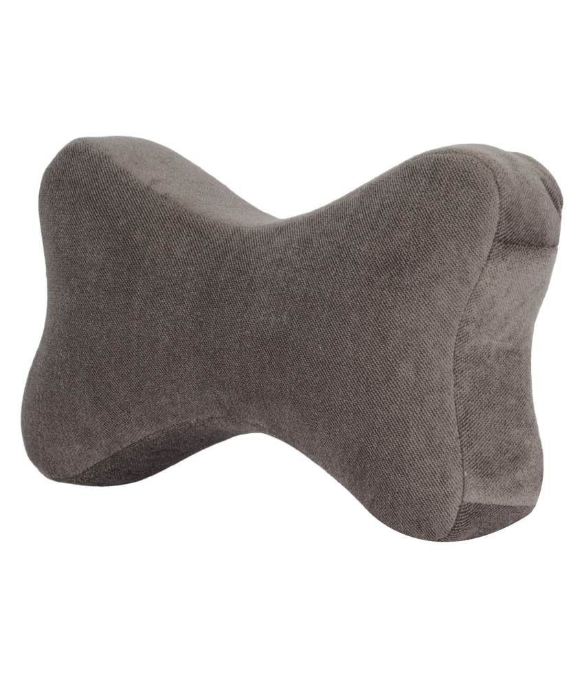 magasin magasin memory foam car neck pillow synthetic grey neck pillow