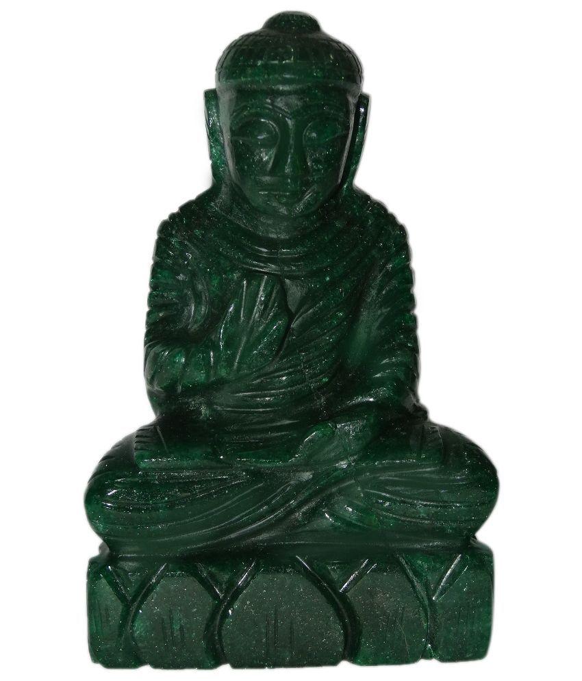 SS Murti Green Aventurine Stone Buddha Idol