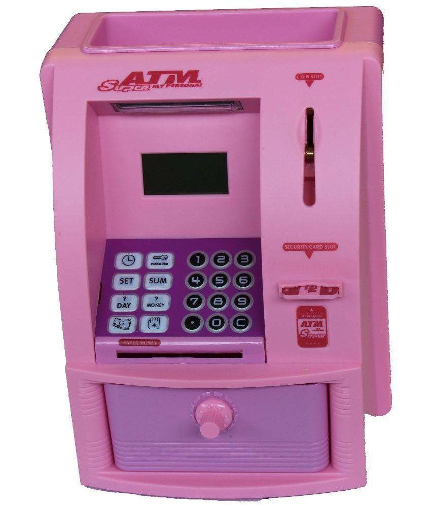 Toy Atm Machine : Scrazy plastic atm machine toy pink buy