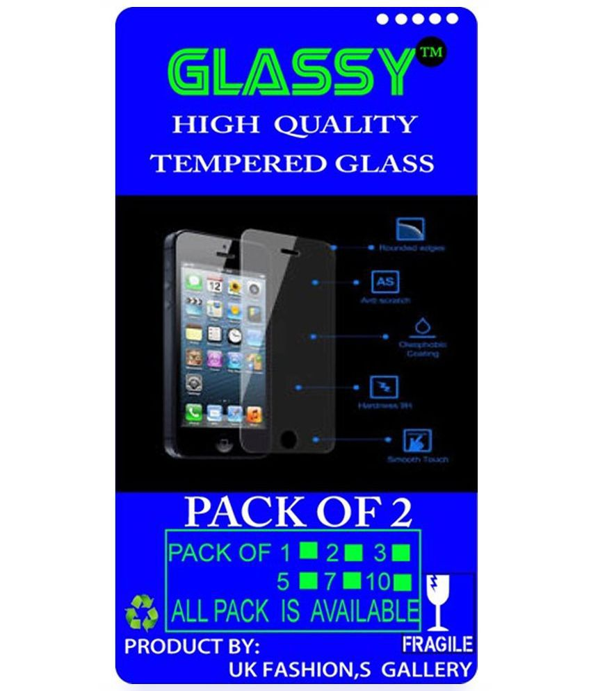 Glassy Tempered Glass Screen Guard For Micromax Canvas Nitro A310 - Pack Of 2