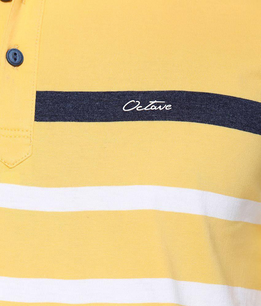 OCTAVE Yellow Round T Shirt