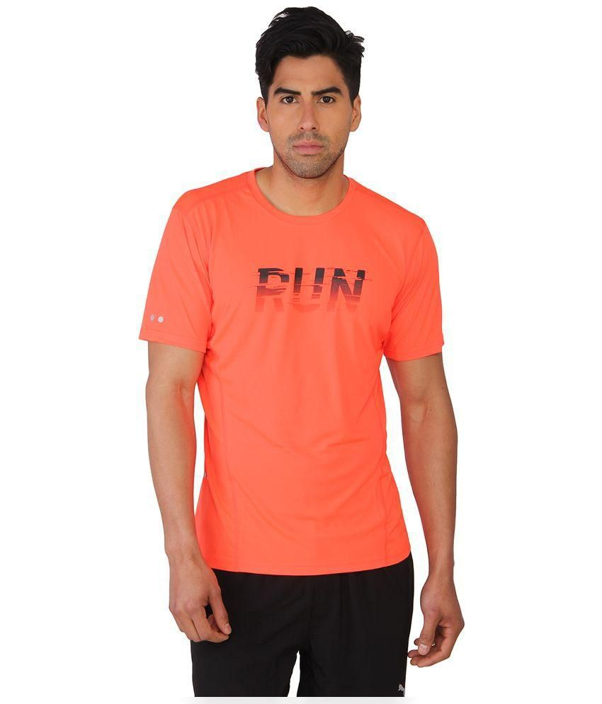 Puma Orange Round T Shirt