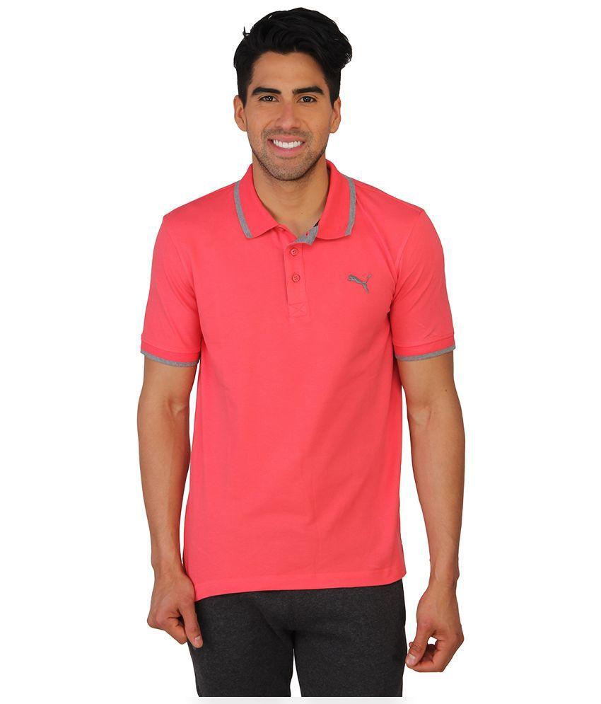 Puma Pink Polo T Shirts