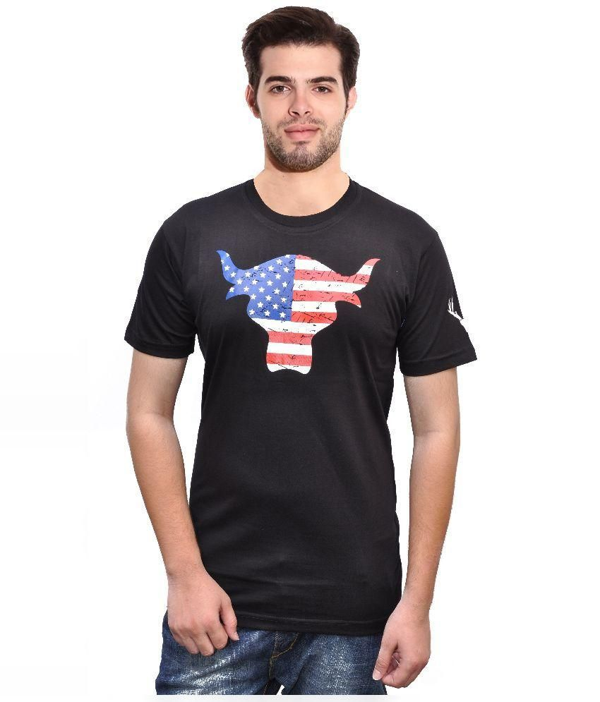 Rangifer Black Round T Shirt