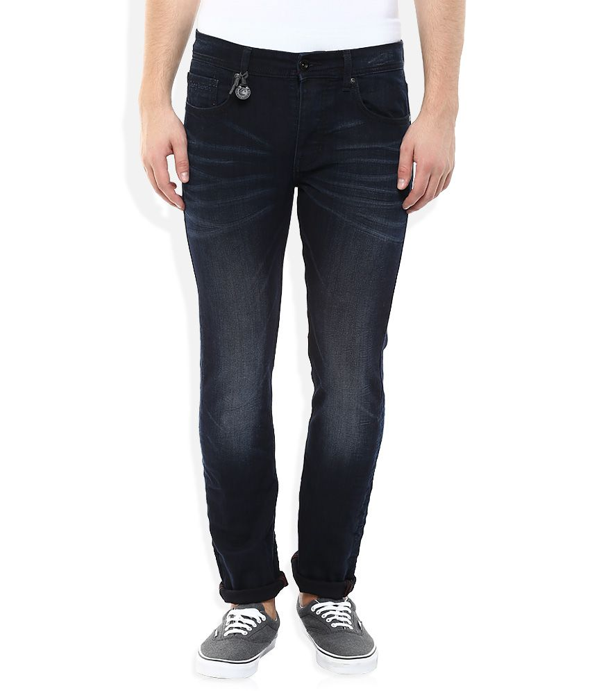 Being Human Blue Slim Fit Faded Jeans