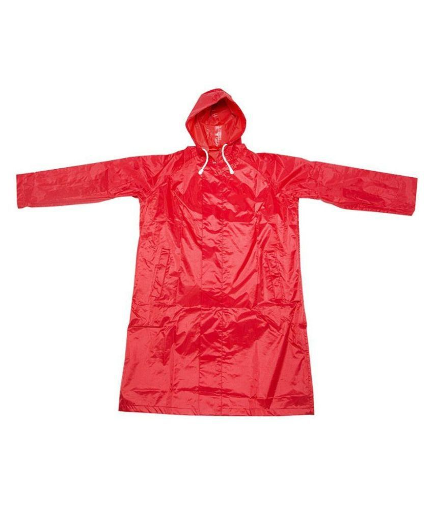 Inside Fashion Red Viscose Rainwear for Girls