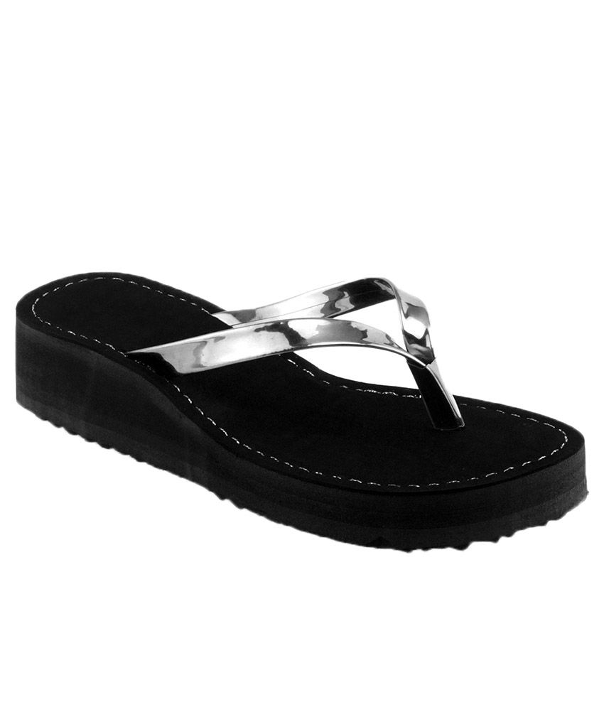 Shoe Lab Black Flip Flops