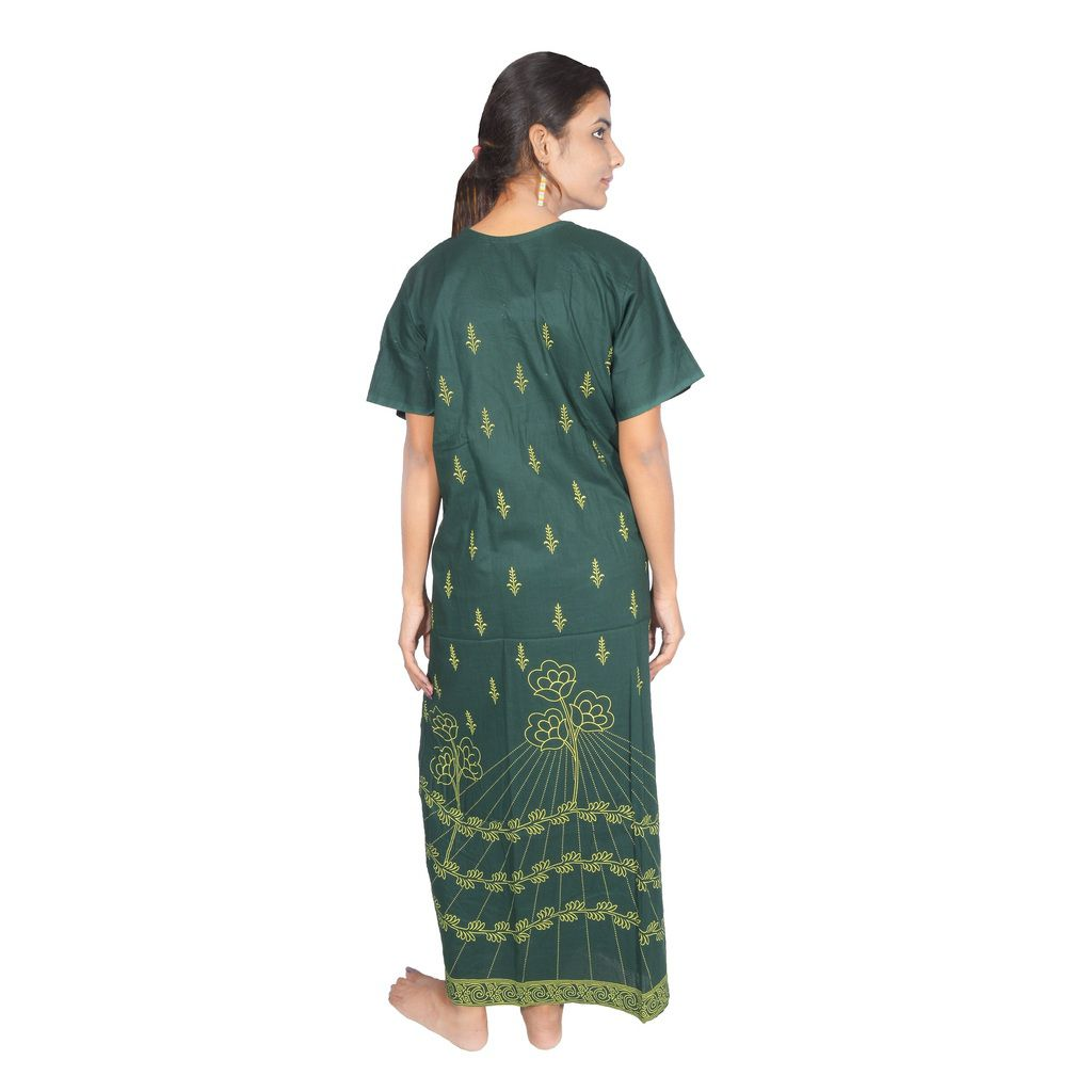 2bfb27ce8 Buy Babita Trading Green Cotton Nighty   Night Gowns Online at Best ...