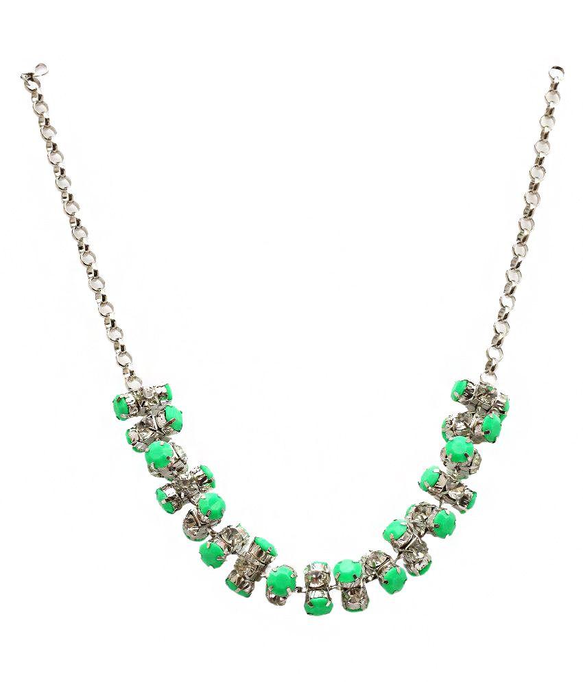 Big Retail Impex Green Zinc Necklace