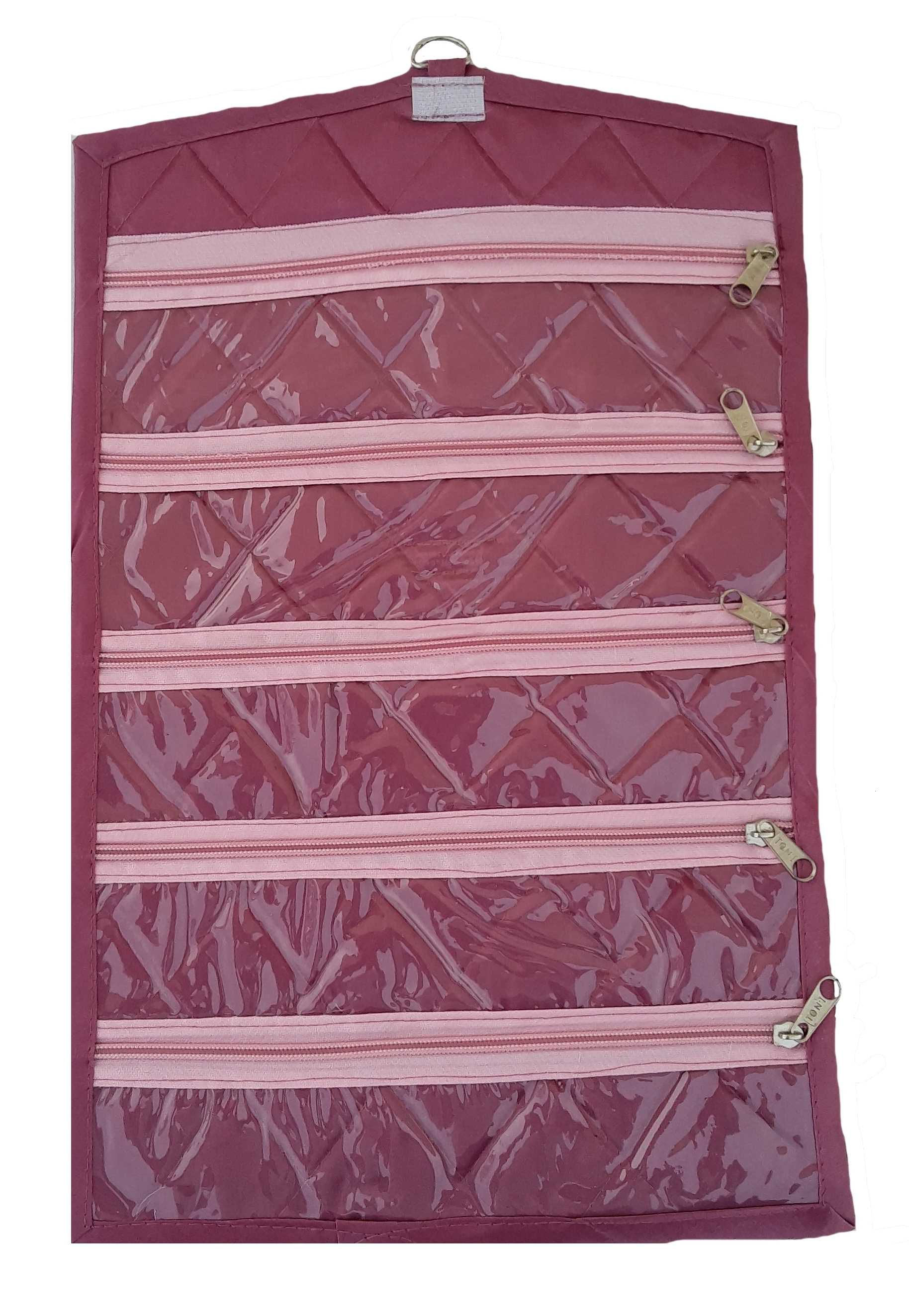 Indi Bargain Fabric Studded Pink Coloured Jewellery Box