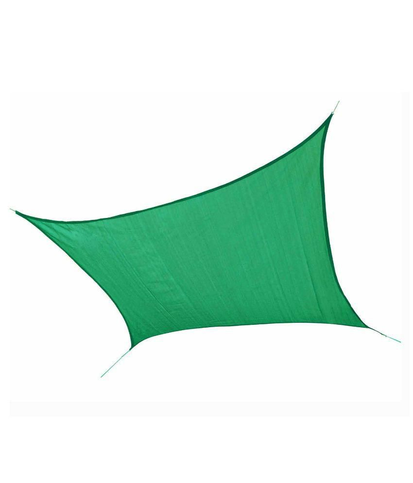 Hippo Shade Sail 9.5 X 16.5 FT in Green Color with Attached Rope and upto 90% Sun Blockage