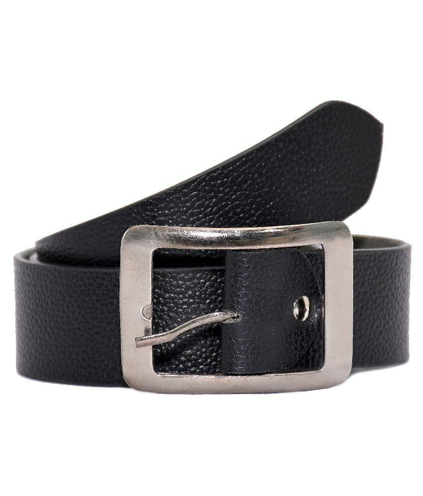 Utake Black Leather Belt for Men