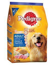 Pedigree Chicken & Vegetables Adult Dog Food - 1.2 Kg (Pack Of 10)