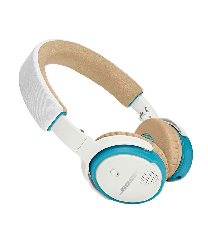 d9b366ecaef Bose SoundLink On-Ear Bluetooth Headphones - White & Blue - Buy Bose  SoundLink On-Ear Bluetooth Headphones - White & Blue Online at Best Prices  in India on ...