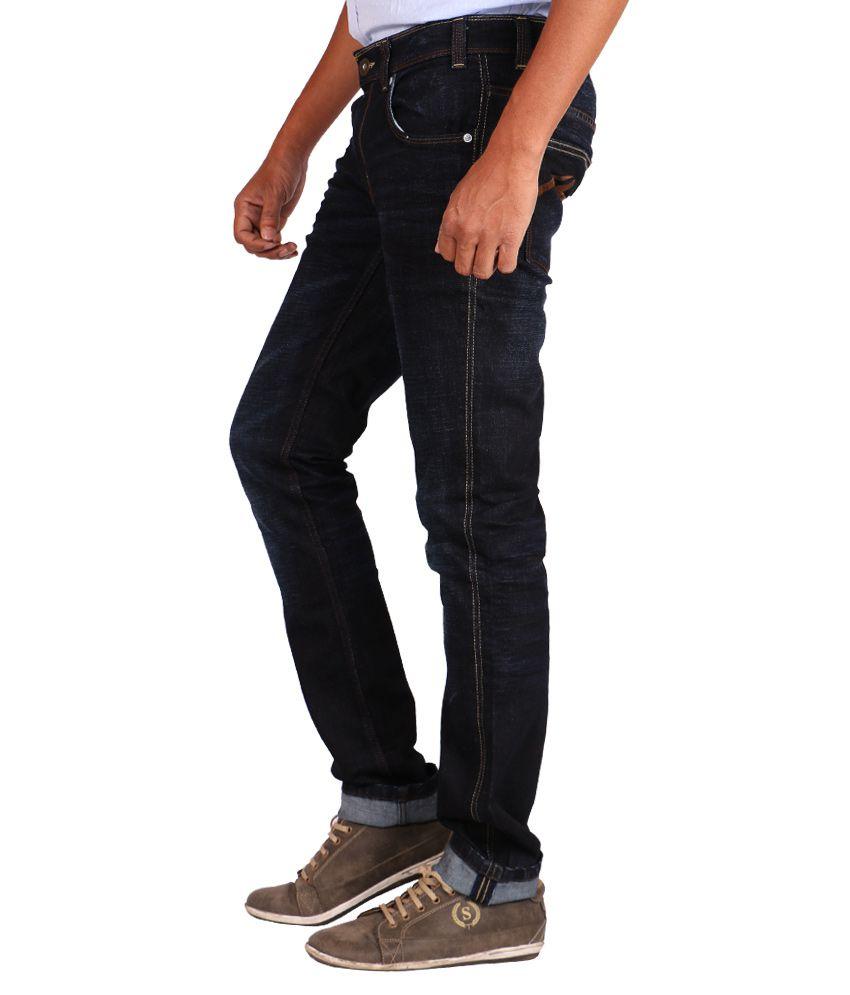 Bare Denim Navy Regular Fit Solid Jeans Buy Bare Denim