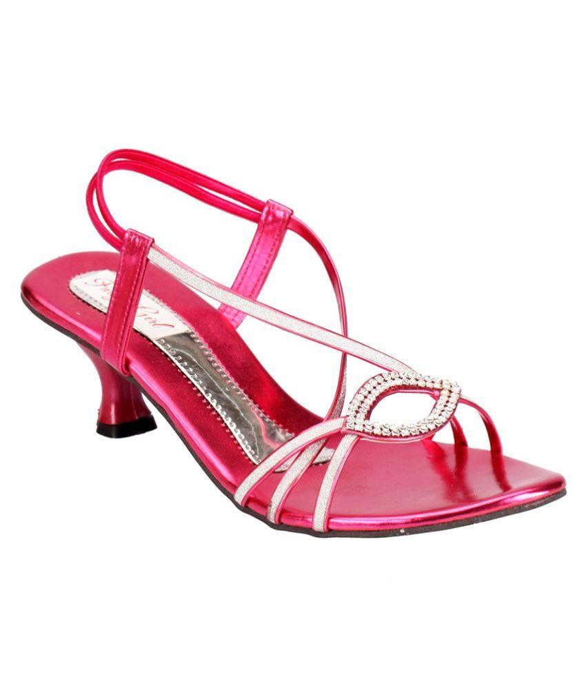 Party Girl Pink Kitten Heels