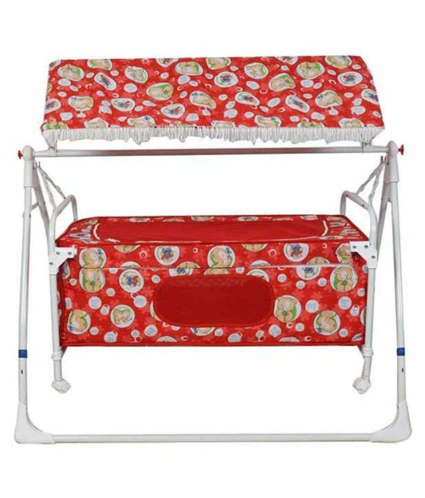Variety Gift Centre Red Cradle Cum Cot