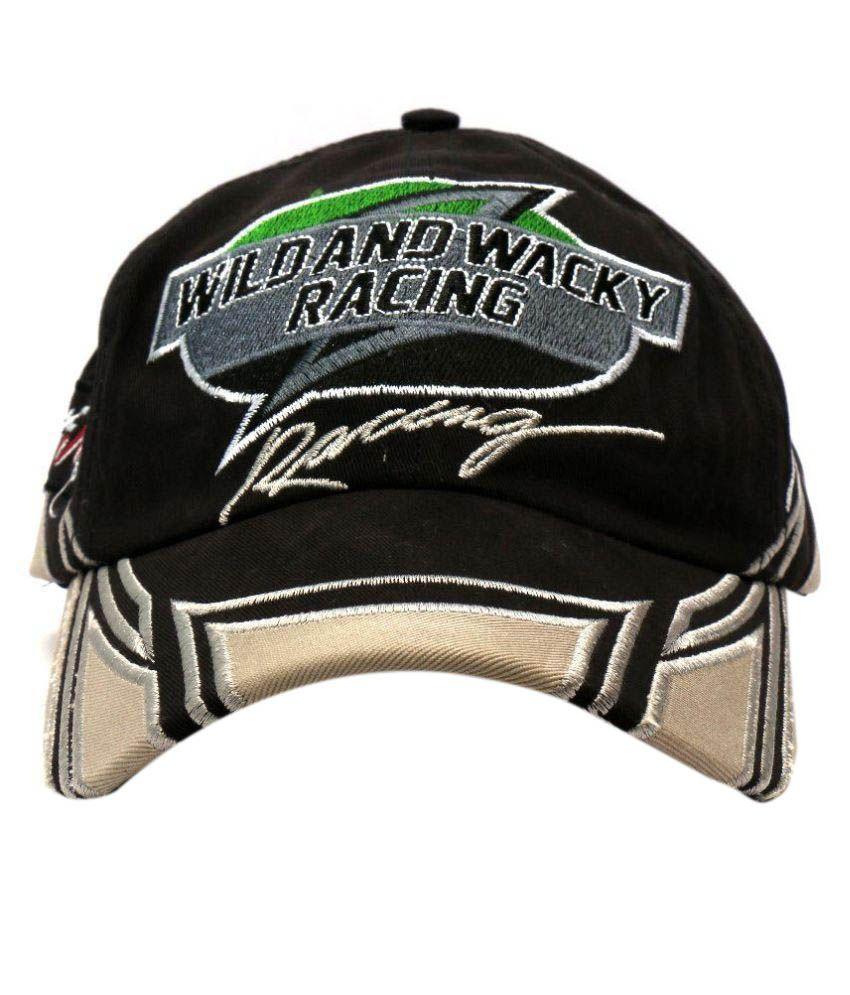 Wild And Wacky Black Cotton Baseball Cap
