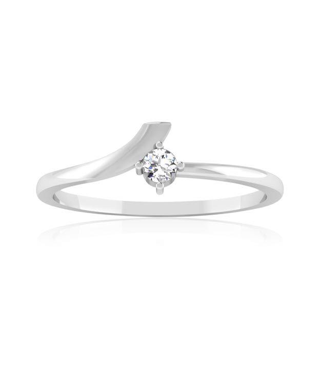 Carat Forever 14kt Gold Diamond White Gold Ring