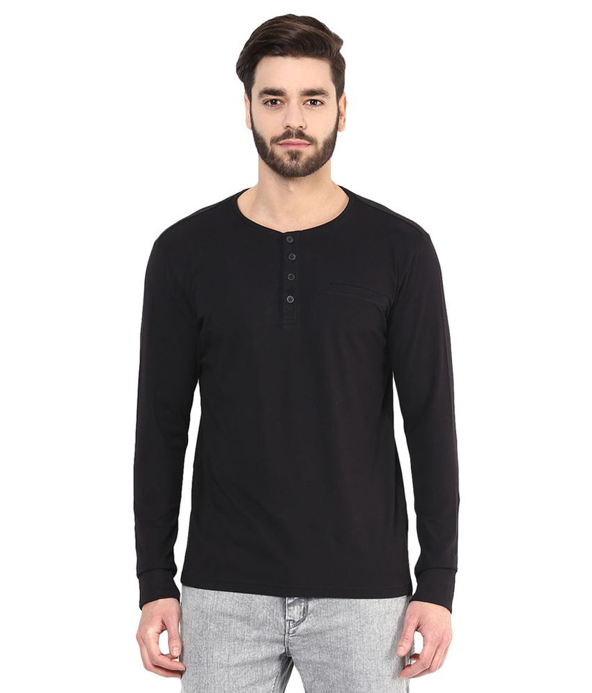 SF Jeans By Pantaloons Black Round Neck T Shirt