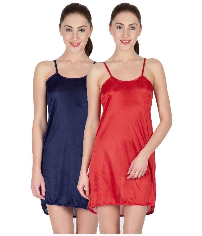 95856b1df2 Buy You Forever Multi Color Satin Nighty   Night Gowns Online at Best  Prices in India - Snapdeal