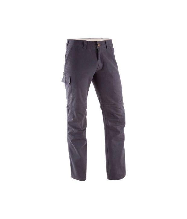 QUECHUA Arpenaz 100 Men's Convertible Hiking Trousers