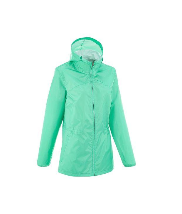 QUECHUA Rain-Cut Zip Women's Hiking Rain Jacket