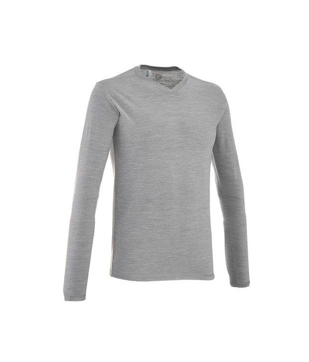 QUECHUA Techwool Men's Long Sleeve T-Shirt