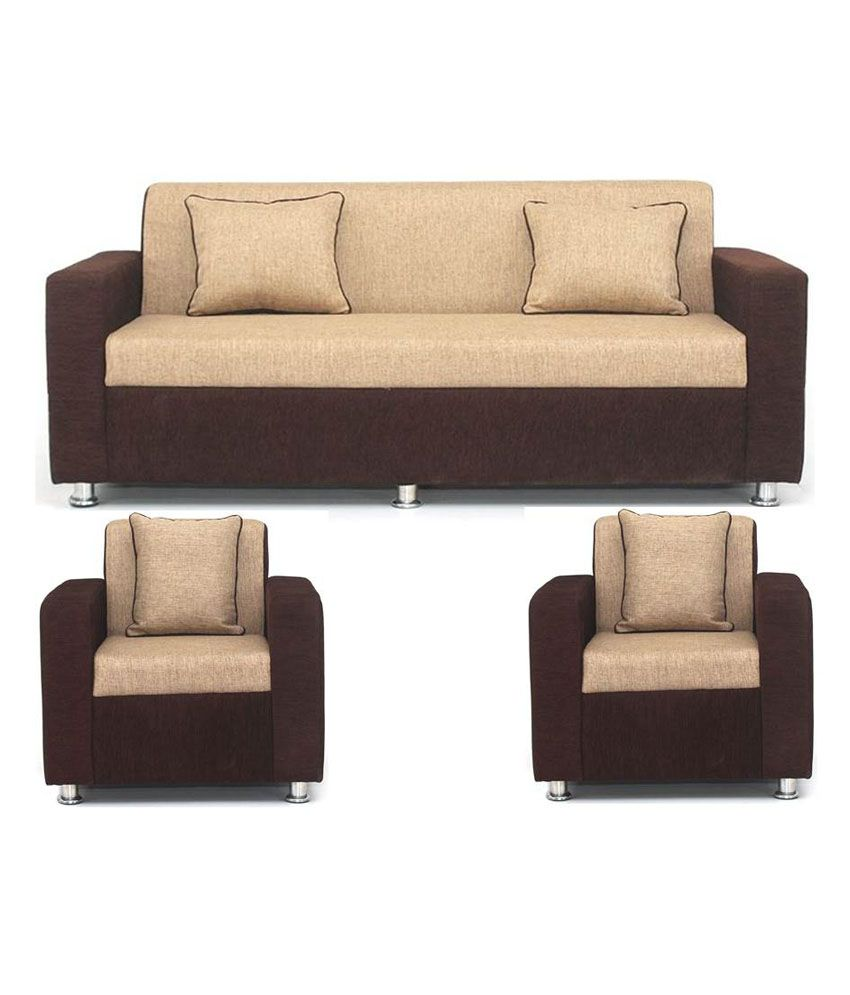 Bls Tulip Brown Cream 3 1 1 Seater Sofa Set Buy Online At Best Price In India On Snapdeal
