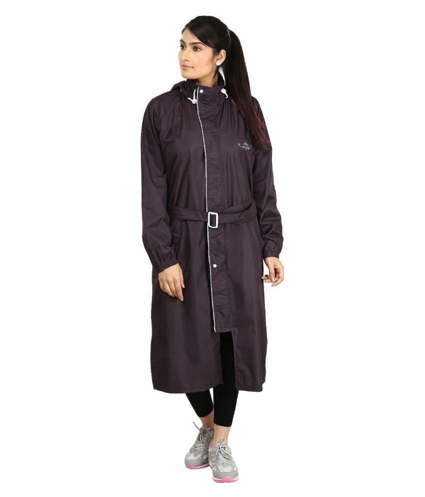 Rainfun Brown Long Raincoat
