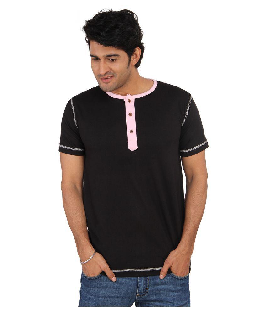 Bisq Black Henley T Shirt