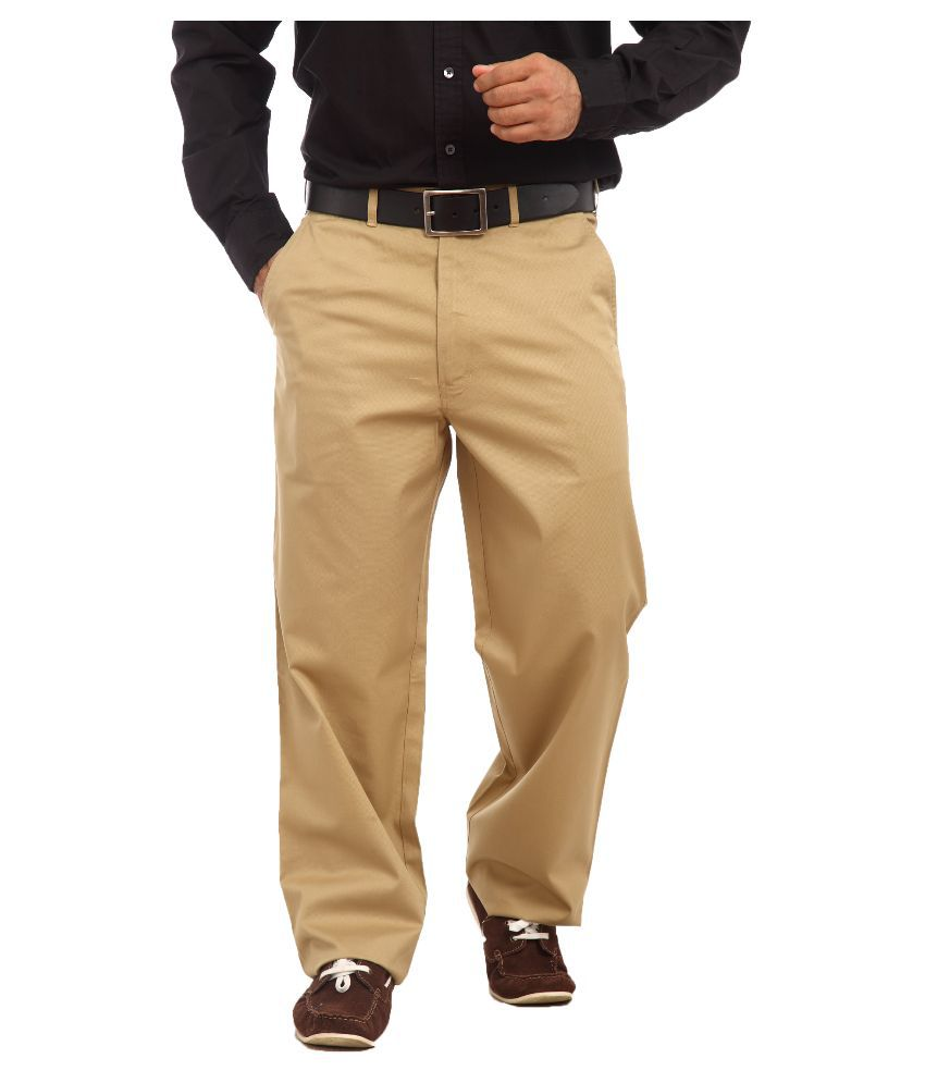 Colorplus Beige Regular Fit Flat Trousers
