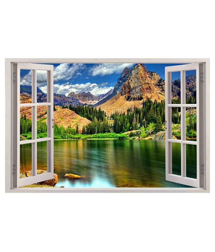Indiashopers nature virtual window poster